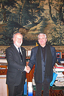 Meeting of M. B. Piotrovsky, Director of the State Hermitage Museum, with Mayor of Venice Giorgio Orsoni