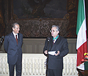 Investuture of the Director of the State Hermitage Museum Mikhail Piotrovsky with the award of the Italian Republic