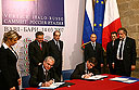 The signing of a Protocol on the Creation of the Hermitage-Italy Research and Cultural Centre